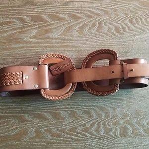 Linea Pelle Brown Leather Belt